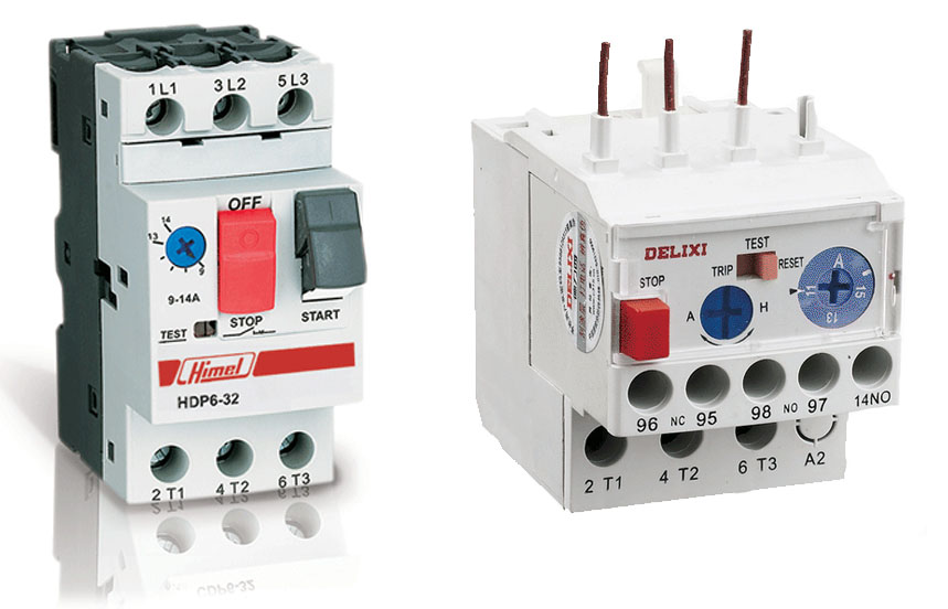 Calculate Size of Contactor, Fuse, C B, Over Load Relay of DOL