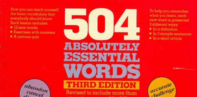 504 absolutely essential words pdf Class page for 504 absolutely essential words 504 absolutely essential words: 504 absolutely essential words baldwin park adult & community education.