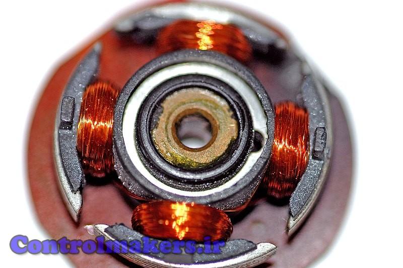 روتور یک موتور براش لس ( موتور فن کامپیوتر خانگی )